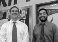 写真1 全米に99カ所の学校を持つ公立教育機関KIPPのマシュー・ペスケイ氏(左)とジョシュ・キノシタ氏