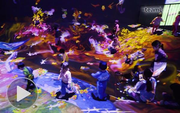 映像世界と戯れる チームラボ、2つの展覧会(もっと関西)