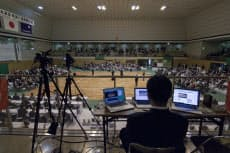第9回全日本選抜剣道八段優勝大会のユーストリーム中継現場(2011年4月17日、愛知県名古屋市)