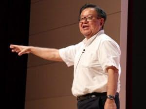 CEDEC 2018の基調講演に登壇した慶応義塾大学の村井純教授