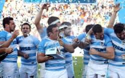 アルゼンチン代表は19年10月9日、熊谷ラグビー場で米国代表と対戦する=ロイター