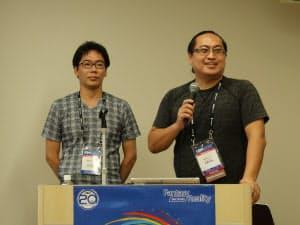 左がハシラス CTOの古林克臣氏、右がハシラス社長の安藤晃弘氏