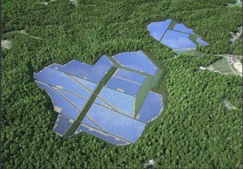 松島どんぐり太陽光発電所の完成イメージ(出所:日本国土開発)