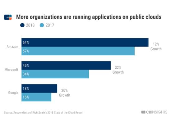 パブリック型クラウドでアプリケーションを運営する組織は増えている(出典:ライトスケール)