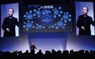 孫氏は「AIを制するものが未来を制する」と力説する(写真:陶山勉)