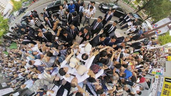 360度カメラでのぞく自民党総裁選