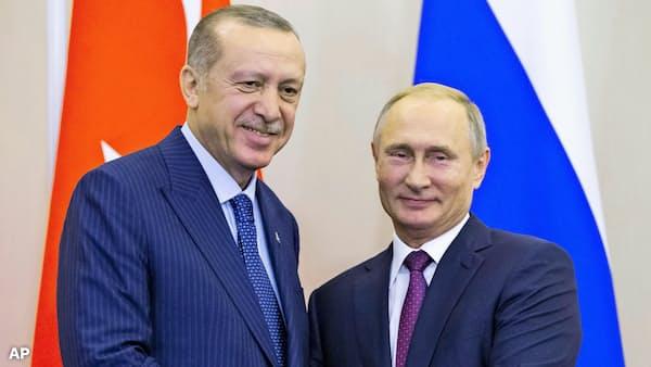 ロシア・トルコ首脳、シリア北西部に非武装地帯で合意