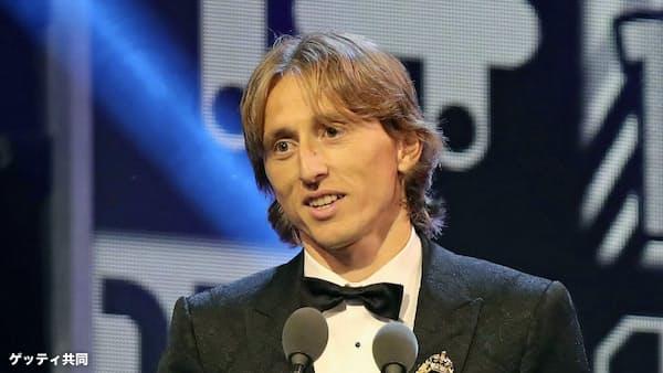 FIFA最優秀選手にモドリッチ クロアチア代表