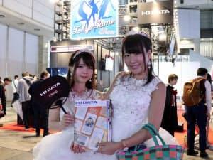東京ゲームショウ会場内のアイ・オー・データ機器ブース