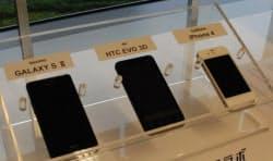 実験に使ったスマートフォン3機種