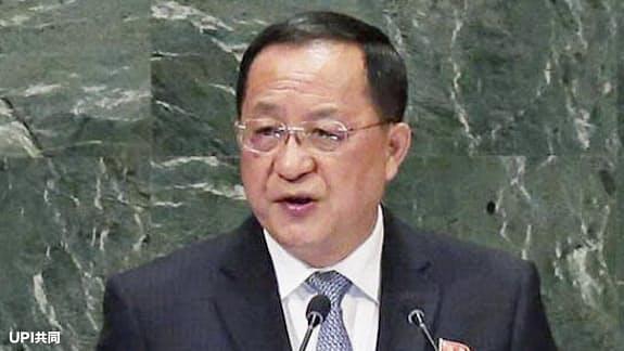 北朝鮮外相「先に非核化せず」、終戦宣言など要求