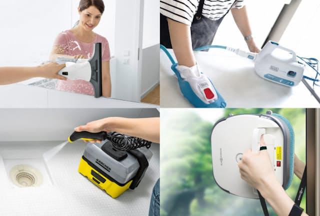 「キッチン」「窓拭き」「外壁やベランダ」に役立つ家電を紹介する