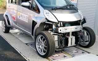 東京大学藤本研究室などが開発した走行中給電できるEV