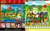 代表的なソーシャルゲーム。左上から順に、『怪盗ロワイヤル』(DeNA)、『FIFAワールドクラスサッカー』(エレクトロニック・アーツ)、『聖戦ケルベロス』(グリー)、『セトルリン』(DeNA)、『海賊王国コロンブス』(グリー)、『農園ホッコリーナ』(DeNA)、『AKB48ステージファイター』(グリー)、『大熱狂!!プロ野球カード』(gloops)、『ドラゴンコレクション』(KONAMI)、『ダーリンは芸能人 for GREE』(ボルテージ)