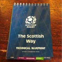 小冊子「スコティッシュ・ウエー」はスコットランドラグビーの「計画表」
