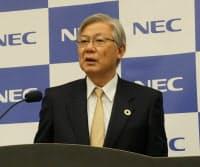 NECの新野隆社長兼CEO