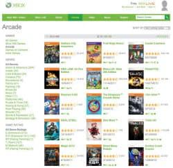 XboxLiveArcadeのページ