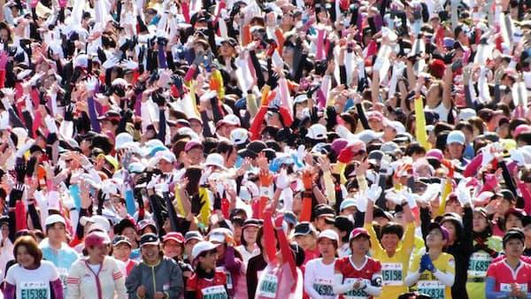 有森裕子 マラソン挑戦、スタート直後は「抑えめ」に