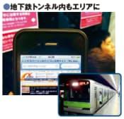 図1 地下鉄の走行中でもスマートフォンなどの利用が可能に
