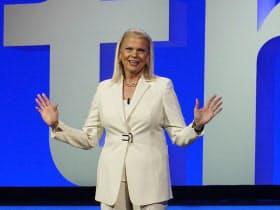 IBM Think 2019で講演するジニー・ロメッティー会長