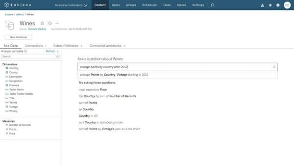 質問文を入力すると自動でデータ分析、Tableau新版