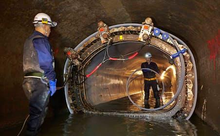 ・老朽化した下水管を更正するSPR工法