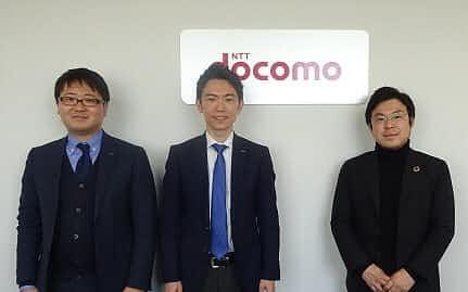 右から、お金のデザイン中村仁社長、NTTドコモ・FinTech推進室の木村圭介氏と原田伸也氏