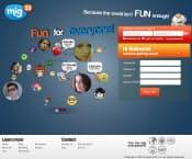 新興国ユーザーが中心のSNS「mig33」のトップページ
