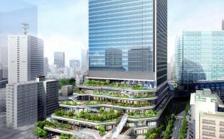 竹芝地区開発計画(仮称)におけるソフトバンクグループとソフトバンクの新オフィスの外観イメージ(出所:ソフトバンク)