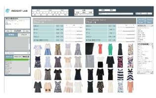 開発したAI(人工知能)の応用例。ネット通販サイトのユーザーが「かわいい度は0.9以上」「ガーリー度は0.7以上」とグラフ上で数値を指定すると、該当する商品を絞り込み表示できる