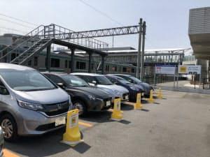 福島県いわき市のJRいわき駅前に設置したタイムズ24のカーシェア拠点 (出所:タイムズ24)