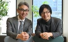 岩佐琢磨?Shiftall代表取締役CEO(右)と長島聡社長