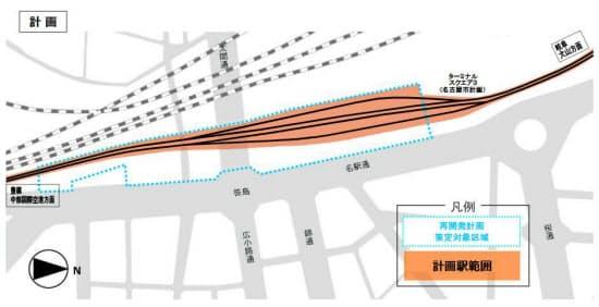 名鉄の公表資料「名鉄名古屋駅4線化計画」より