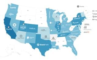 米各州の資金調達額が最も多いAIスタートアップ企業。14年1月以降に実施した株式発行による資金調達のみを対象としている