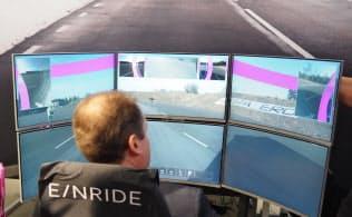 MWC19バルセロナでエリクソンなどが実施した無人トラックの遠隔操作デモ