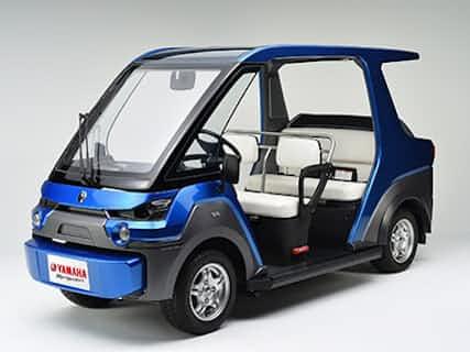 ヤマハ発動機が開発した4輪の燃料電池車(FCV)「YG-M FC」、1充填で150~200キロメートルを航続可能とする(出所:ヤマハ発動機)