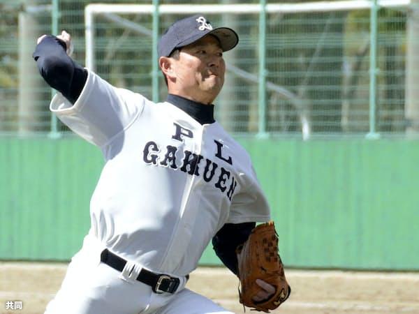 PL学園高野球部のOBチームの練習試合で先発した桑田真澄氏(13日午前、大阪府内)=共同