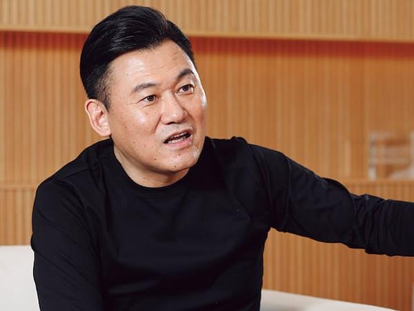 楽天の三木谷浩史会長兼社長(写真:村田和聡)