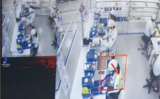 モーションセンサーによる作業分析。人の腕や頭部の位置・角度を自動で認識する