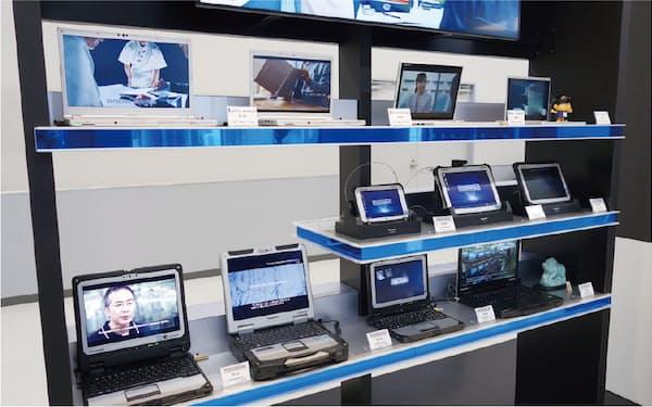 パナソニックの神戸工場で生産する製品群。モバイルソリューション事業部のマザー工場として「レッツノート」や「タフブック」、タブレット端末などを生産する