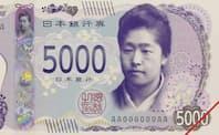 新5千円札の見本(一部)