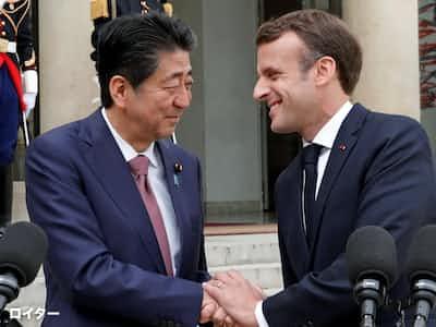 日仏首脳、デジタル・貿易・環境で対米連携