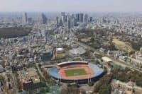 東側から見た現在の国立競技場(写真:日本スポーツ振興センター)
