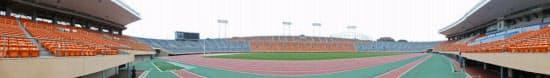 約5万4000人を収容する現在の国立競技場(写真:日経アーキテクチュア)