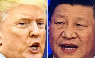 「覇権争い」を続けるトランプ米大統領(左=共同)と習近平・中国国家主席