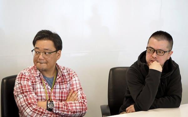 デジタル事業部デジタルコミュニケーショングループデジタルコミュニケーションチームリーダーの海江田透氏(左)とデジタル事業部事業部長の向殿文雄氏