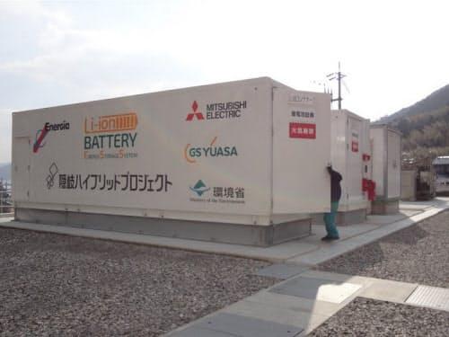再エネの短周期変動に対応するリチウムイオン電池。GSユアサ製(出所:日経BP)