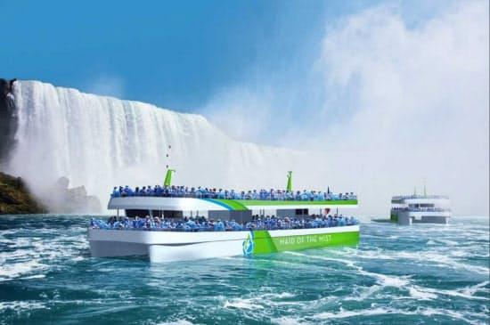 ナイアガラの滝のツアーに導入される「フル電動」観光船のイメージ(出所:ABB)