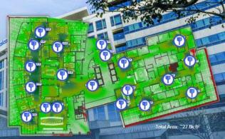 クアルコムのサンディエゴ本社の5G とWi-Fi共存サイト(出所:クアルコム)