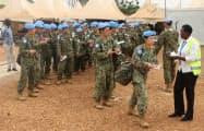 南スーダンの国連平和維持活動(PKO)に参加した自衛隊=ロイター